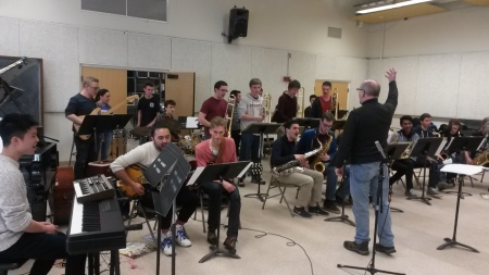 Workshop und Session mit der Brown Uni Jazzband, Providence, RI und dem Barrington Highschool Jazzorchestra