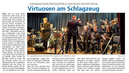 Bericht Vallendar Blick aktuell NovemberAP 2014 Steve Fidyk Konzertbericht