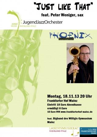 Plakat Peter Weniger + Phoenix