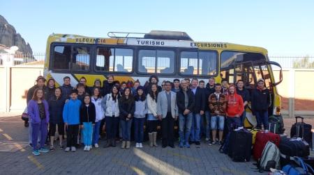 Verabschiedung vor der Deutschen Schule La Paz